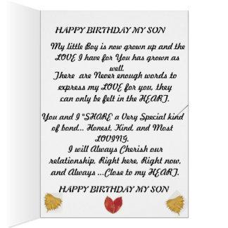 Tarjeta de cumpleaños para ese hijo especial