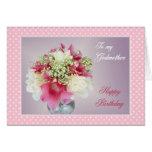 Tarjeta de cumpleaños para Godmom - ramo de flores