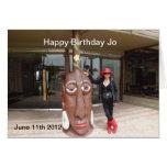 Tarjeta de cumpleaños para Jo
