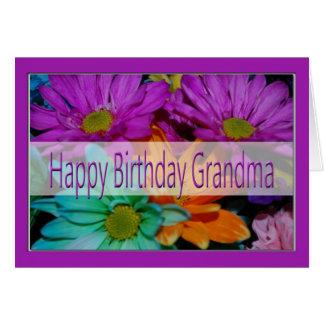 Tarjeta de cumpleaños para la abuela
