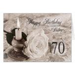 Tarjeta de cumpleaños para la hermana, 70.  La vel