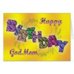 Tarjeta de cumpleaños para la mamá de dios con el