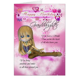 Tarjeta de cumpleaños para la nieta, empanada de M