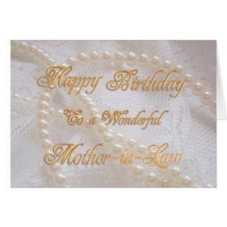 Tarjeta de cumpleaños para la suegra con las tarjeta de felicitación
