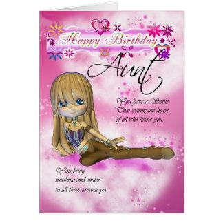 Tarjeta de cumpleaños para la tía collecti de la