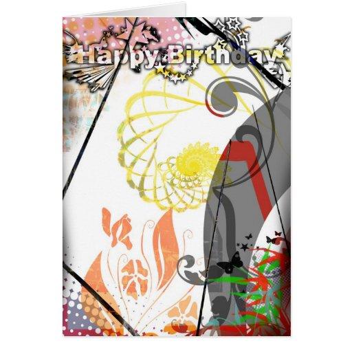 Tarjeta de cumpleaños para las adolescencias y los