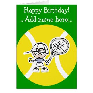 Tarjeta de cumpleaños para los niños de los jugado