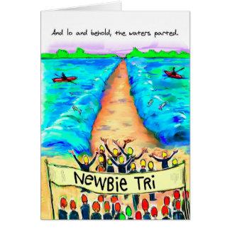 Tarjeta de cumpleaños para Triathlete - Newbie Tri