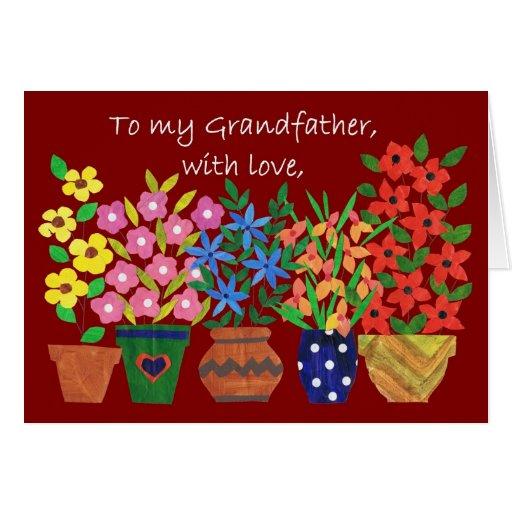 Tarjeta de cumpleaños para un abuelo - flower