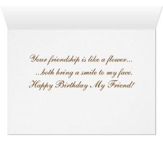 Tarjeta de cumpleaños para un amigo