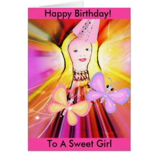 Tarjeta de cumpleaños para un chica más pequeño:
