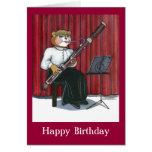 Tarjeta de cumpleaños para un músico