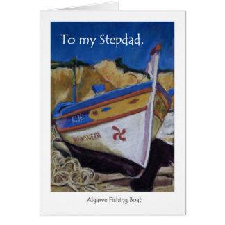 Tarjeta de cumpleaños para un Stepdad - barco de