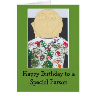 Tarjeta de cumpleaños para una persona especial
