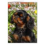 Tarjeta de cumpleaños: Perro de aguas de rey Charl