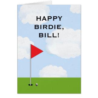 tarjeta de cumpleaños personalizada del golf