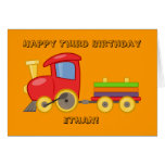 Tarjeta de cumpleaños personalizada del tren