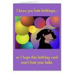 Tarjeta de cumpleaños poco convencional del Dachsh