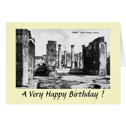 Tarjeta de cumpleaños - Pompeya