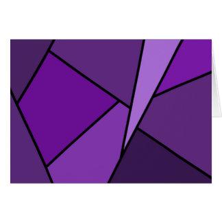 Tarjeta de cumpleaños púrpura abstracta de los