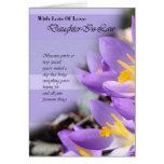 Tarjeta de cumpleaños púrpura del azafrán de la nu