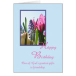 Tarjeta de cumpleaños religiosa cristiana -- Flor