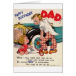 Tarjeta de cumpleaños retra del papá del feliz cum