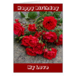 Tarjeta de cumpleaños romántica