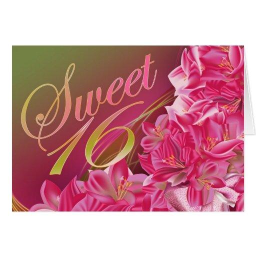 Tarjeta de cumpleaños rosada de la plantilla del