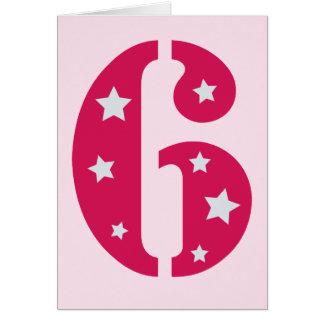 Tarjeta de cumpleaños rosada de la superestrella 6