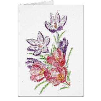 Tarjeta de cumpleaños seca de las flores