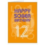 Tarjeta de cumpleaños sobria numerada feliz