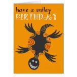 Tarjeta de cumpleaños sonriente de la tortuga
