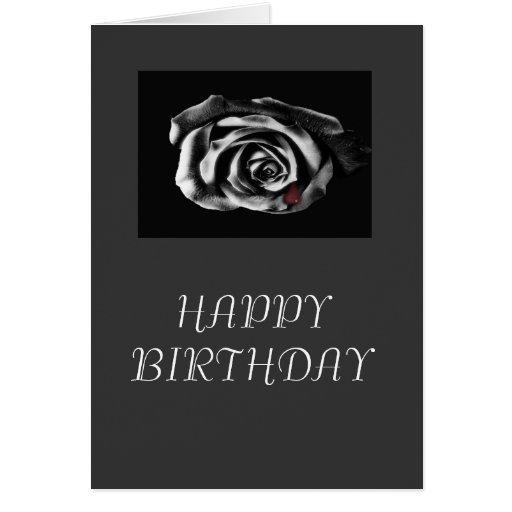 Tarjeta de cumpleaños subió negro gótico del vampi