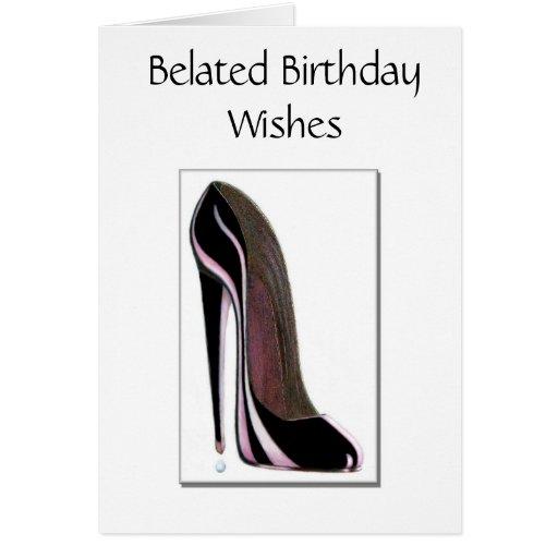 Tarjeta de cumpleaños tardía