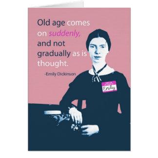 Tarjeta de cumpleaños tardía de Emily Dickinson