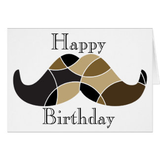 Tarjeta de cumpleaños temática del bigote