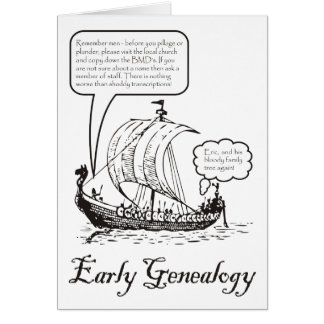 Tarjeta de cumpleaños temprana de la genealogía (b