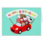 Tarjeta de cumpleaños - todo el carácter