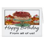 Tarjeta de cumpleaños - todos nosotros - cumpleaño