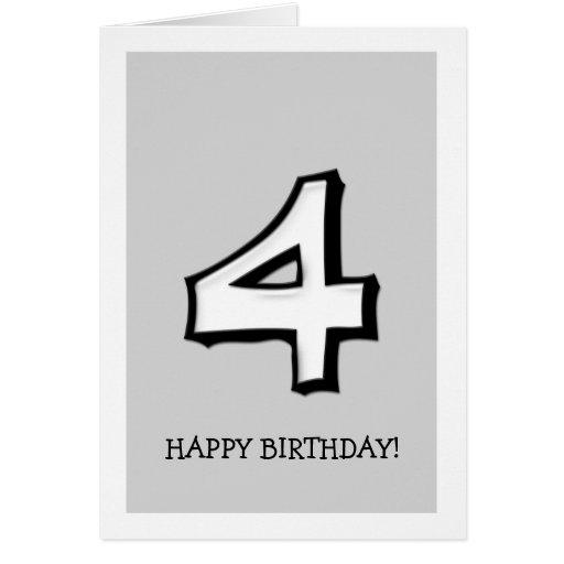 Tarjeta de cumpleaños tonta del blanco del número