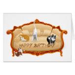 Tarjeta de cumpleaños traviesa de los gatos del so