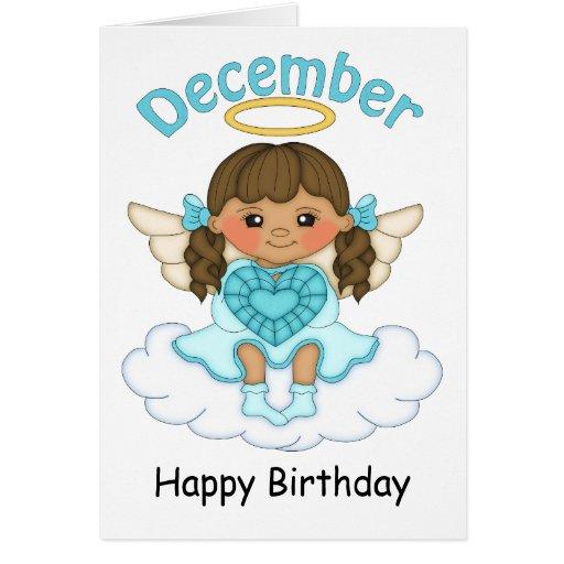 Tarjeta de cumpleaños triguena del ángel de