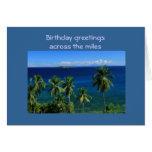 Tarjeta de cumpleaños tropical de la isla