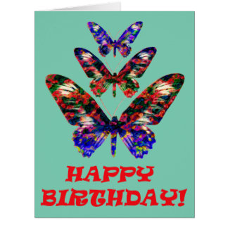 Tarjeta de cumpleaños tropical del diseño de las
