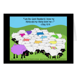 Tarjeta de cumpleaños única de las ovejas