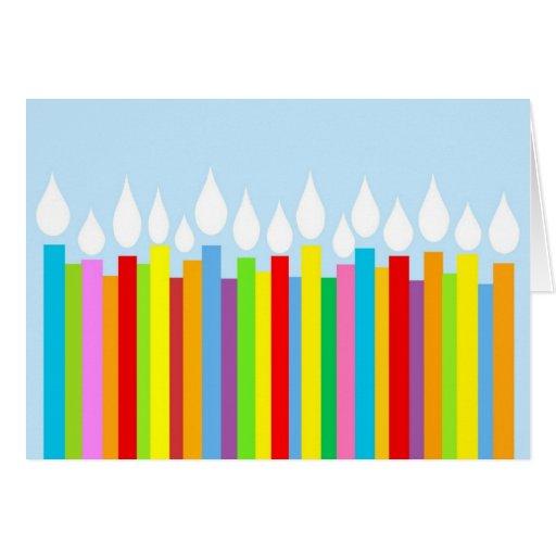 Tarjeta de cumpleaños - velas