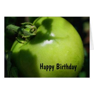 Tarjeta de cumpleaños verde de la fotografía del t