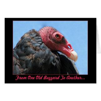 Tarjeta de cumpleaños vieja del halcón
