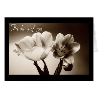 Tarjeta de Customizeable de los tulipanes de la